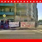 """""""Solidarietà ai rom. Case per tutti. Morte al fascio""""."""