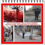 LEGGE FORNERO:  CANTIERI FERMI, PER MANCANZA DI PENSIONATI !!