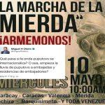 """Venezuela: la """"marcia de la mierda"""" che piace ai fascisti e ai loro finanziatori."""